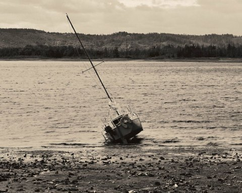 Beached Sailboat